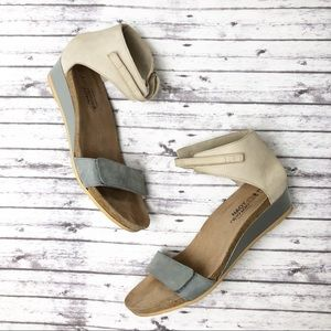 Naot Prophecy Wedge Nubuck Leather Sandal 41